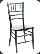 Crown Back Banquet Chair -black with dots