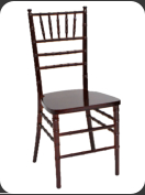 Resin Chiavari Chair, mahogany