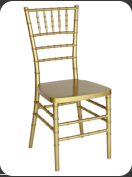Resin Chiavari Chair, gold