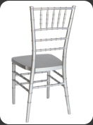Resin Chiavari Chair, silver  -back view