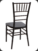 Resin Chiavari Chair, black  -back view