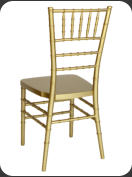 Resin Chiavari Chair, gold  -back view