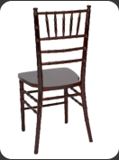 Resin Chiavari Chair, mahogany  -back view