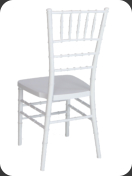 Resin Chiavari Chair, white  -back view